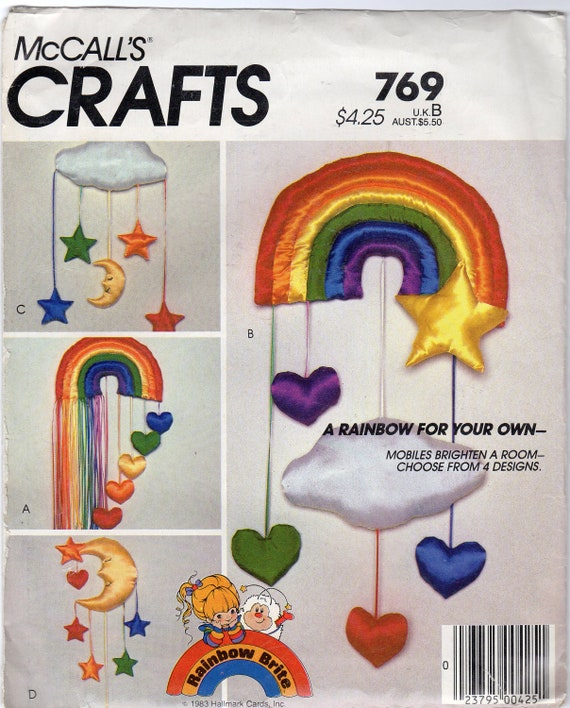 Rainbow Mobile Pattern - McCall's Crafts 769 - Rainbow Brite theme