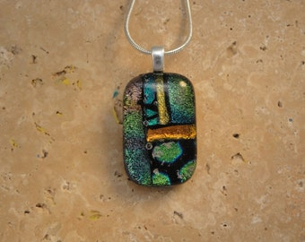 Dichroic Fused Glass Pendant - BHS01493