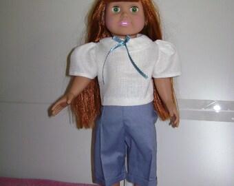 Kaya) Designer Peddle pusher with blouse