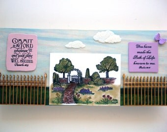 Verses Art Plaque.  You have made the Path of Life known to me. Psalm 16:11.  COMMIT to the LORD... Proverbs 16.3.  Biblical Wall Scripture