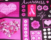 Sold Out Breast Cancer patchwork fabric by the yard