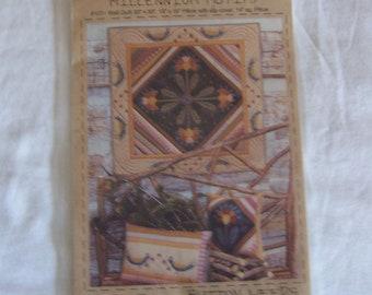 """Milleumnin Quilt pattern Wallhanging 36"""" Flowers Birds Pillow Cover Pillow"""