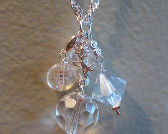 Sterling Silver and Crystal Pendent Necklace