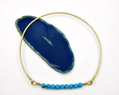 FALL SALE - 50% OFF - turquoise strand bangle bracelet