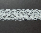 New Item 1 inch Off white (ivory) LACE ELASTIC for headband 5 yards