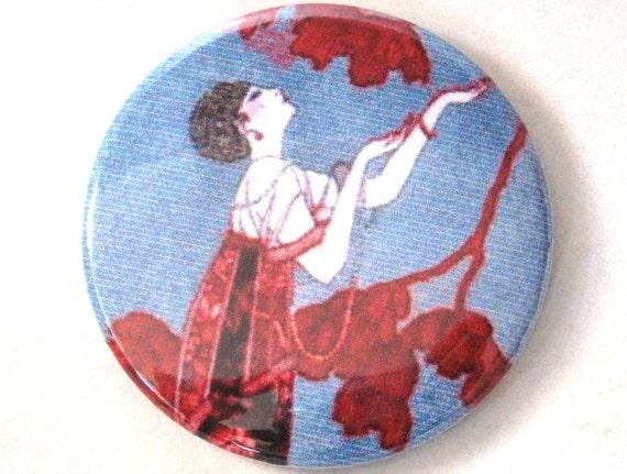 Vintage Art Nouveau Poster Mirror