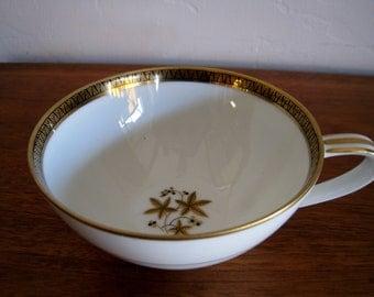 Noritake Goldston retired pattern Japan mid century modern tea cup gold