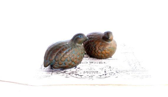 Vintage Birds Partridge Pair Mid Century Woodland