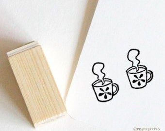 cup Rubber Stamp