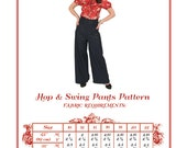 Vintage Sewing Pattern - Hop and Swing Pants Vintage Style pattern (New)