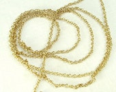 Unfinished Chain 2mm links Brass 36 inches gold color chain Craft Supplies Jewelry Beading Chain