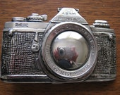 1970s 1980s Pentax Camera Belt Buckle
