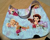 SALE girls teens tinkerbell and friends purse  multi colored  pixie hollow fairies