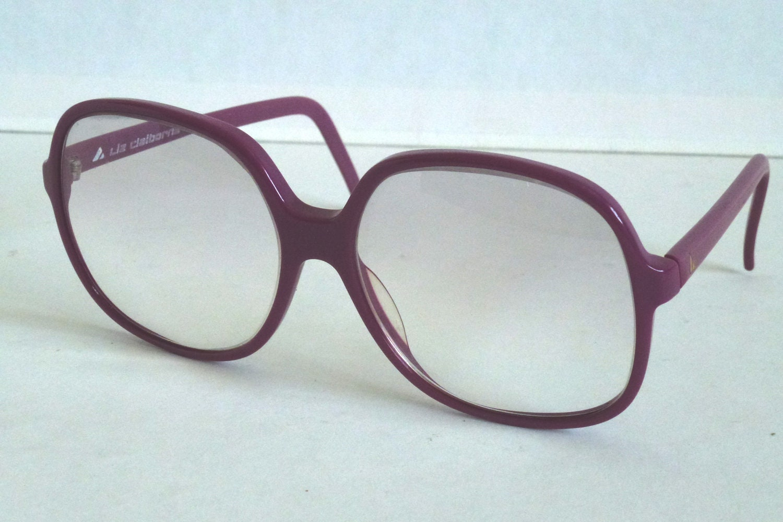 Vtg 70s Oversized Liz Claiborne Purple Eyeglasses // Large