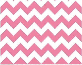 Medium Chevron Hot Pink  by Riley Blake Designs 1-1/2 yards  cut