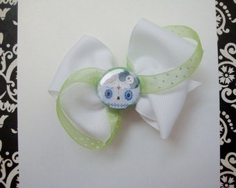 Day of the Dead kitty bow