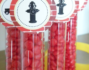 Vintage Fire Truck Party Toppers