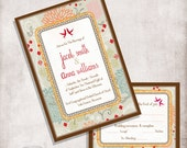 Wedding invitation printable, Digital file Only