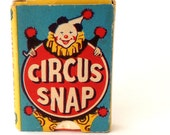Fabulous vintage Circus snap game cards to play, for art, assemblage or card making, wonderful vintage illustration and colours