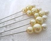 Pearl Trinket Pins - Champagne