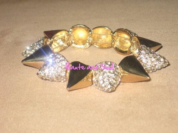 Gold Spike Bracelet  Love and Hip hop
