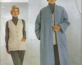 Vogue Sewing Pattern 9977 - Misses' Coat, Vest & Pants (20-24)