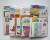 SALE Paper Ephemera Kit / Retro Idea Kit / Scrap Paper Pack/ ACEO kit ATC