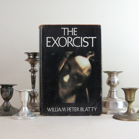 The Exorcist - William Peter Blatty - 1970s Vintage Red Hardcover Book with Dust Jacket