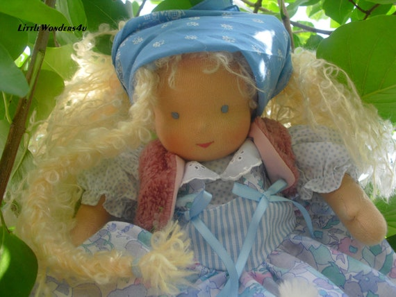 RESERVED 2nd installment Lynn 14 - 15 inch handmade Waldorf Doll with 2 outfits Cloth Doll human figure doll