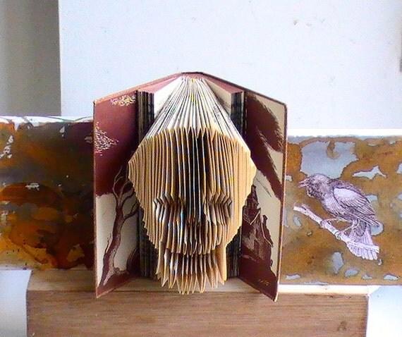 Items similar to READY TO SHIP -- Halloween Decor Skull ...
