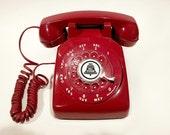 WORKING- Red Rotary Phone