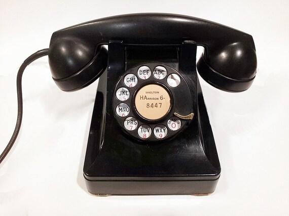 WORKING- Black Lucy Rotary Phone  1945