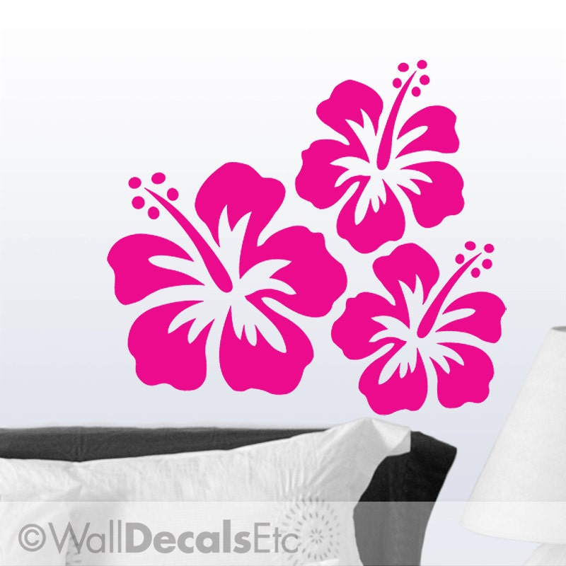 Hibiscus Flower Aloha Hawaiian Vinyl Decal Sticker