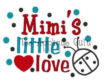 MImi's Little Love Bug Applique Machine Embroidery Design