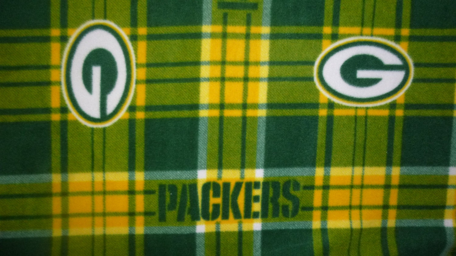 Large Adult Size Green Bay Packers Fleece Blanket No Sew