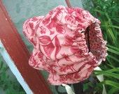 Newborn Baby Bonnet - Reversible Newborn Bonnet - Baby Bonnet - Sun Bonnet - Newborn - 3 months - Rose Pink Bonnet