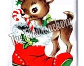 Christmas Holiday Floursack tea towel...LiL Fawn