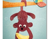 Children's Art, Nursery Art, Kids Decor, Nursery Wall Art, Monkey, I've Got A Banana