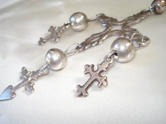 Vintage Handmade Crosses Necklace