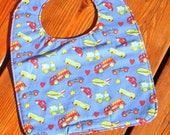 TODDLER Bib: Small Trucks, Personalization Available