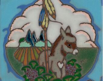 Hand Painted Ceramic Donkey or  Burro Original Art