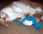 Handmade catnip filled octopus cat toy