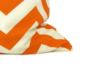 Decorative Throw Pillow Covers Orange Pillow Lumbar Pillow Cover 16x20 Chevron Pillow Cover Cushion Cover Print both sides Rectangular