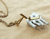 Wear your brooch as a necklace, Brooch Necklace Converter Gold Plated Horizontal Supplies