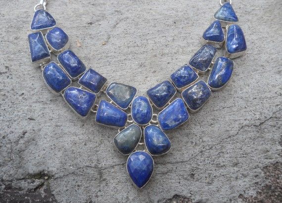 Luscious Lapis Lazuli Sterling Silver 925 Necklace
