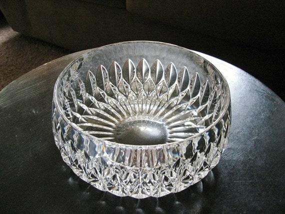 Vintage Gorham Althea Round Crystal Bowl