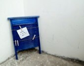 Message board recycled upcycled rustic cottage chic nautical white blue red