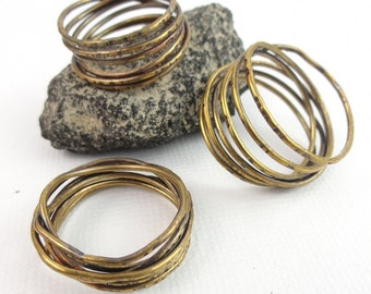Brass Vine Ring