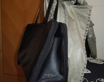 Authentic Vintage BOTTEGA VENETA Black Calf Leather Tote Bag