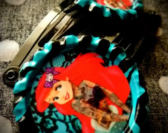 Tattooed Mermaid hair clips